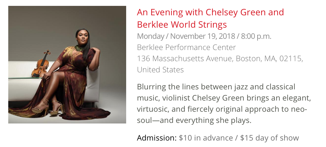 Berklee World Strings feat  Dr  Chelsey Green – Chelsey Green